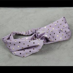 Accessories - Purple with Gold Stars Headband